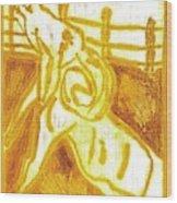 Yellow Ram Wood Print
