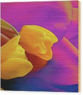 Yellow Tulips 2 Wood Print