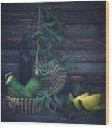 Yellow Watermelon Wood Print