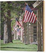 Yellowstone Flags Wood Print
