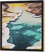 Yellowstone Hot Springs Triptych Wood Print
