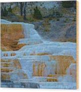 Yellowstone Mineral Deposits Wood Print