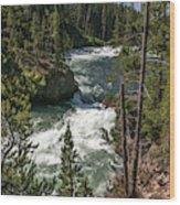 Yellowstone Rapids Wood Print