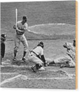 Yogi Has It Out. Jackie Robinson, With Wood Print