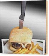 Yopper Burger Wood Print