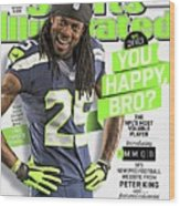 You Happy, Bro The Nfls Most Voluble Player Sports Illustrated Cover Wood Print