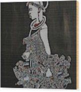 Young Fulani Girl Wood Print