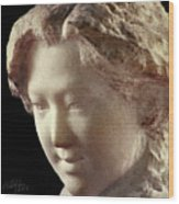Young Girl-part-arttopan Carving-realistic Stone Sculptures-marble Wood Print