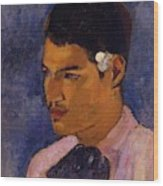 Young Man With A Flower Behind His Ear 1891 Wood Print