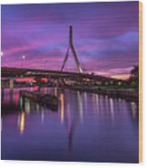Zakim Sunset Wood Print