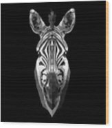 Zebra's Face Wood Print