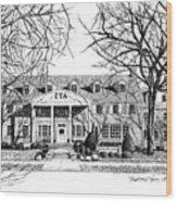 Zeta Tau Alpha Sorority House, Purdue University, West Lafayette, Indiana, Fine Art Print Wood Print