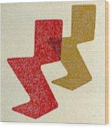 Zig Zag Chairs I Wood Print