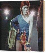 Ziggy Stardust Era Bowie Wood Print