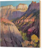 Zion's West Canyon Wood Print