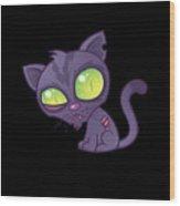 Zombie Kitty Wood Print