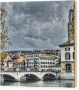 Zurich Switzerland Wood Print