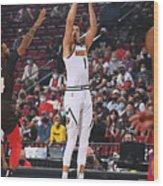 2021 NBA Playoffs - Denver Nuggets v Portland Trail Blazers Wood Print