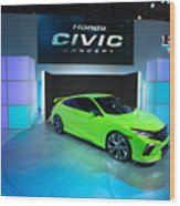 Automakers Showcase New Models At New York International Auto Show Wood Print