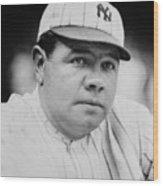 Babe Ruth Wood Print