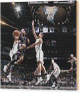 Brook Lopez and Chris Paul Wood Print