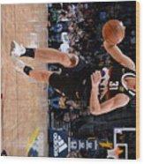 Charlotte Hornets v Denver Nuggets Wood Print