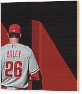 Chase Utley Wood Print