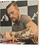 Conor McGregor DVD Signing Wood Print