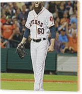 Dallas Keuchel Wood Print