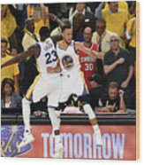 Draymond Green and Stephen Curry Wood Print