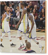Draymond Green, Stephen Curry, and Kevin Durant Wood Print
