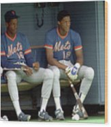 Dwight Gooden and Darryl Strawberry Wood Print