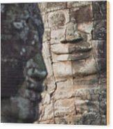 face  of Bhudha at Bayon temple Wood Print