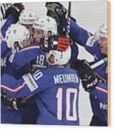 Finland v France - 2017 IIHF Ice Hockey World Championship Wood Print