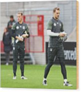 Germany - Training & Press Conference Wood Print