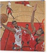Houston Rockets v Chicago Bulls Wood Print