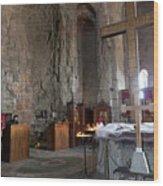 Inside the Jvari Church, Mtskheta Wood Print