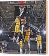 Jamal Murray and Lebron James Wood Print