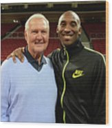 Jerry West and Kobe Bryant Wood Print