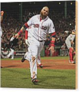 Jonny Gomes and Shane Victorino Wood Print