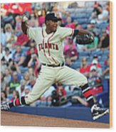 Julio Teheran Wood Print