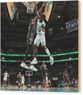 Kevin Durant and Terry Rozier Wood Print