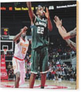 Khris Middleton Wood Print