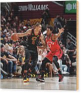 Kyle Lowry and George Hill Wood Print