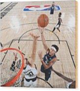 LA Clippers v Dallas Mavericks - Game Four Wood Print