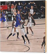 LA Clippers v Dallas Mavericks - Game Three Wood Print