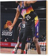 LA Clippers v Phoenix Suns Wood Print