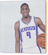 Langston Galloway Wood Print
