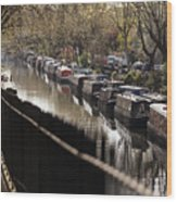 Londoners Enjoy The Warm Spring Weather Wood Print