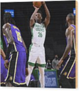 Los Angeles Lakers v Boston Celtics Wood Print